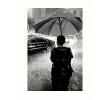 Waiting out the rain - Sydney NSW Australia Art Print