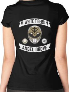 Angel Grove Motorcycle Club (White Tigers) Women's Fitted Scoop T-Shirt