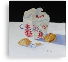 Fortune Cookies and Rice Canvas Print
