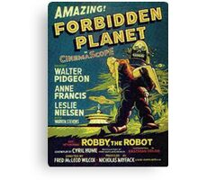 Vintage Sci-fi Movie Forbidden Planet, Robot Canvas Print