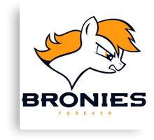 Bronies Denver Broncos Canvas Print
