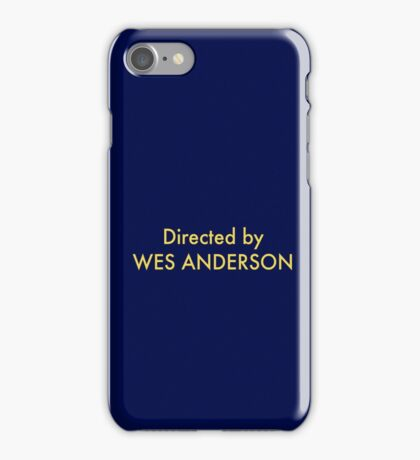 homage to Wes iPhone Case/Skin