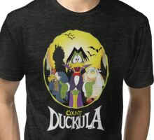Count Duckula - Darkwing Duck Tri-blend T-Shirt