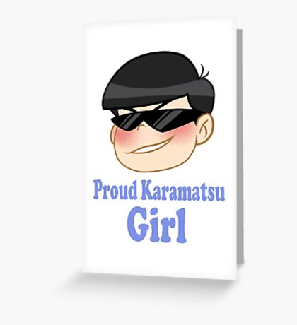 Osomatsu-san: Proud Karamatsu Girl Greeting Card