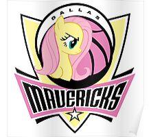 Dallas Mavericks Ponies - Fan Girl Basketball Poster