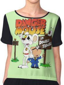 Danger Mouse Trouble Chiffon Top