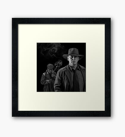 A bullet in the back Framed Print