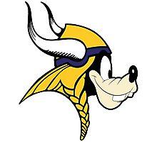Goofy Minnesota Vikings Photographic Print