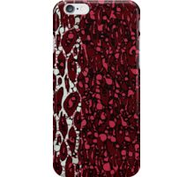 Burgundy White Black Cheetah Abstract  iPhone Case/Skin