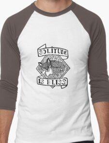 Solitude is Bliss  Men's Baseball ¾ T-Shirt