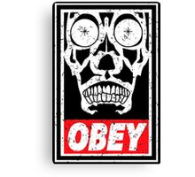 Skull Obey Canvas Print
