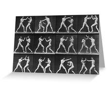 Eadweard Muybridge - Fight Boxer Motion Study Greeting Card