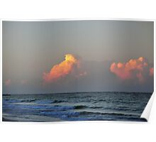 Beach clouds  Poster