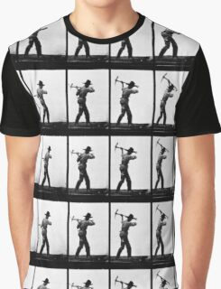 Eadweard Muybridge - Pick Axe Photographic Motion Study Graphic T-Shirt