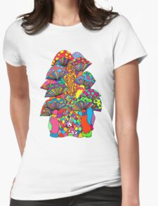 Follow Me To Wonderland Womens Fitted T-Shirt