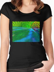 Can you hear the birds sing and the frogs, it's spring? Women's Fitted Scoop T-Shirt
