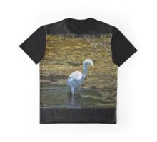 Great Egret Foraging in a Stream Graphic T-Shirt