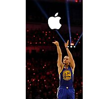 Steph Curry With The Apple Shot Photographic Print