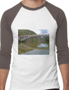 Kings Bridge and Cataract Gorge, Launceston Tas, Australia Men's Baseball ¾ T-Shirt