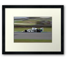 Williams in a Hurry Framed Print