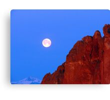 Smith Rock Moonset Canvas Print