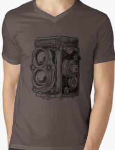 Hand-drawn vintage camera Mens V-Neck T-Shirt