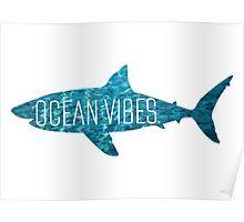 Ocean Vibes   Shark Poster