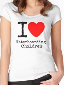 I <3 Waterboarding Children Women's Fitted Scoop T-Shirt