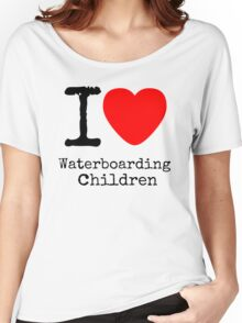 I <3 Waterboarding Children Women's Relaxed Fit T-Shirt