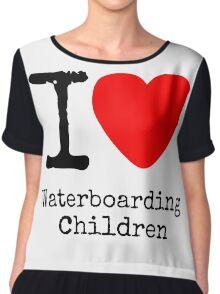 I <3 Waterboarding Children Chiffon Top