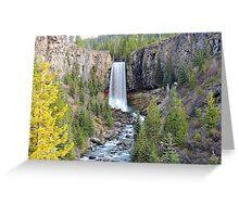 Tumalo Falls Greeting Card
