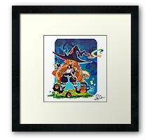 Metallia the Swamp Witch Framed Print