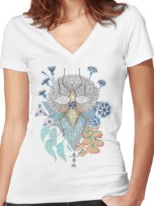 Key to other dimension Women's Fitted V-Neck T-Shirt