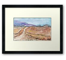 A road in Namibia Framed Print