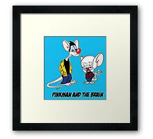 Pinkman and The Brain - Pinkman and Walter - Breaking Bad Parody - Pinky and the Brain Parody Framed Print