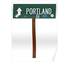 Portland Sign (w/ pole) Poster