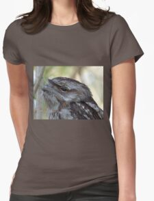 Frogmouth close up  Womens Fitted T-Shirt