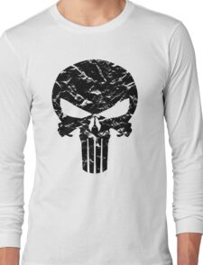 Punisher Logo (Black) Long Sleeve T-Shirt