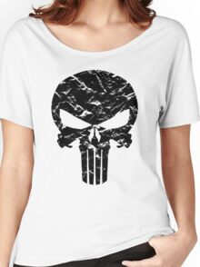 Punisher Logo (Black) Women's Relaxed Fit T-Shirt