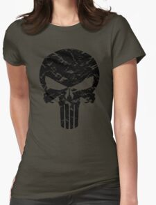 Punisher Logo (Black) Womens Fitted T-Shirt