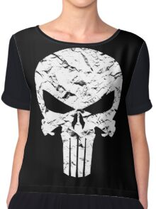 Punisher Logo Chiffon Top
