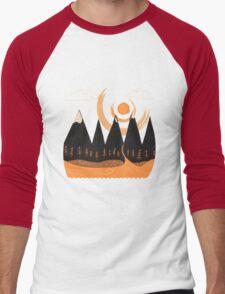Sunny Mountain Pass Men's Baseball ¾ T-Shirt