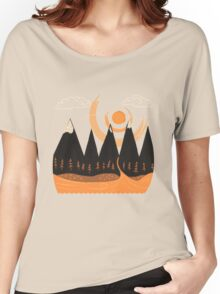 Sunny Mountain Pass Women's Relaxed Fit T-Shirt