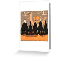 Sunny Mountain Pass Greeting Card