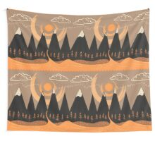 Sunny Mountain Pass Wall Tapestry