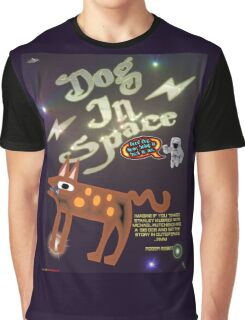 Dog In Space T-shirt Design Graphic T-Shirt