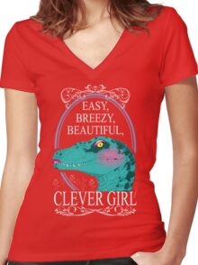 Easy, Breezy, Beautiful, Clever Girl Women's Fitted V-Neck T-Shirt