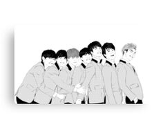 BTS Group Photo - Monochrome Canvas Print