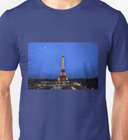 Eiffel night Unisex T-Shirt