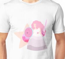 Rose Quartz (White) Unisex T-Shirt